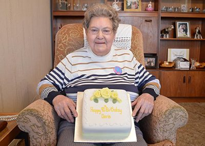Resident Doris celebrating her birthday