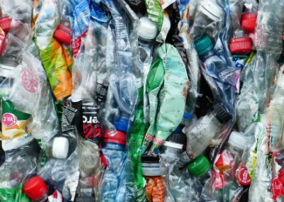 crushed plastic bottles feature