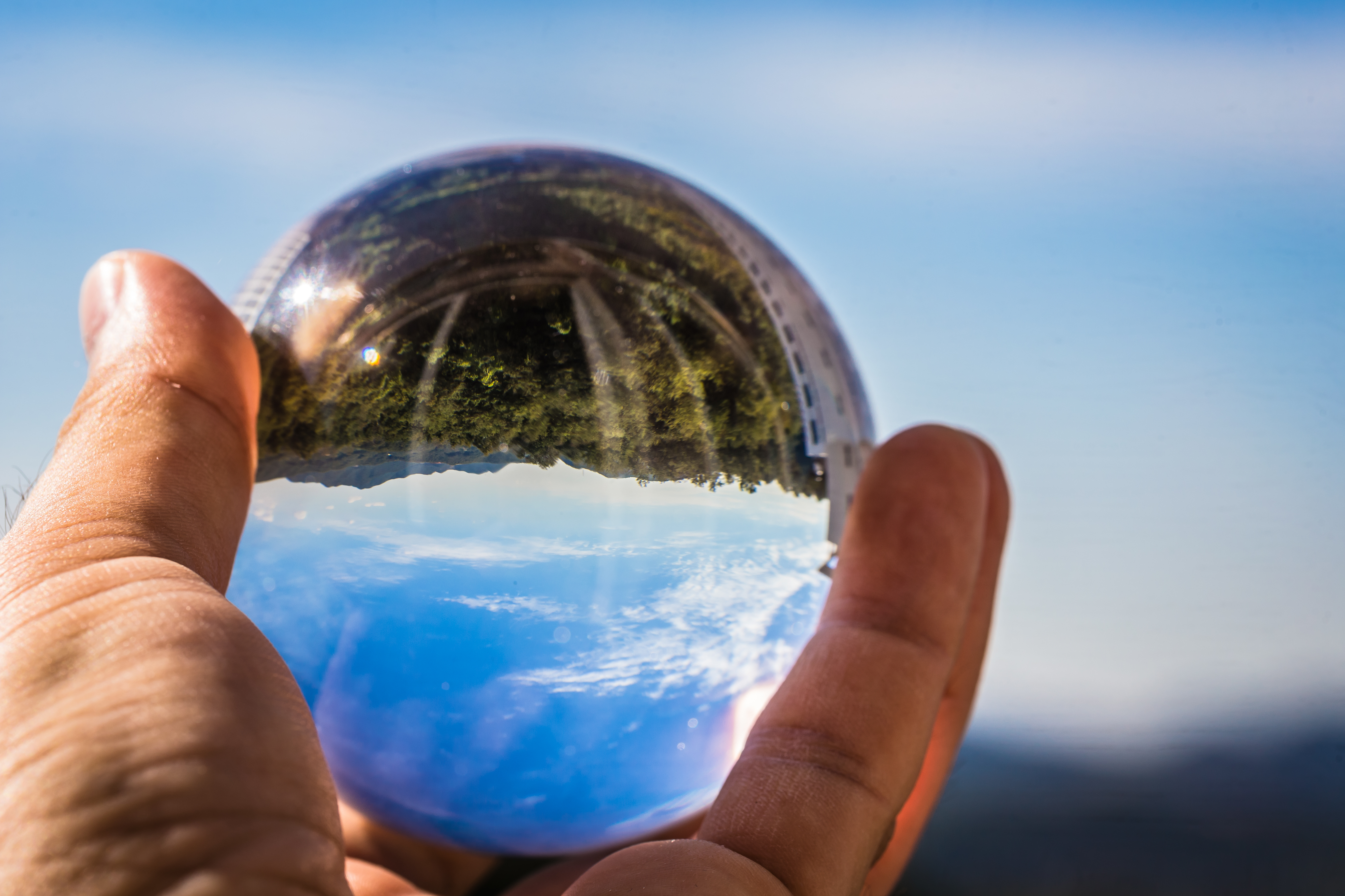 The sky reflected in the crystal ball